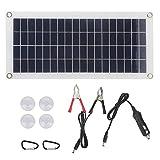 Dilwe Panel Solar de 10 W, Carga de batería de Placa Flexible de Doble Salida para el Panel de...