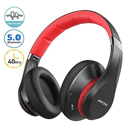 Mpow 059 Plus Noise Cancelling Headphones, [40Hrs Playtime] Bluetooth 5.0 Wireless Headphones, Rapid Charge, Hi-fi Deep Bass, CVC 8.0 Mic, Soft Memory Foam Earpads, for Cellphone PC TV Travel Work