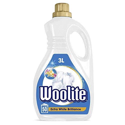 Woolite White Brilliance – Pflegendes Feinwaschmittel für weißes – Für 50 Waschladungen – 1er Pack (1 x 3l)