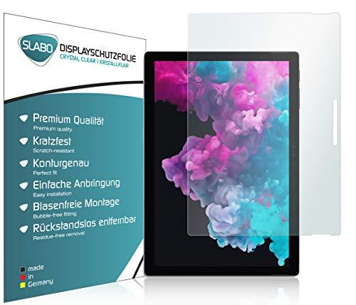 Slabo 2 x Bildschirmschutzfolie für Microsoft Surface Pro 7 | Pro 6 | Pro 4 | Pro (2017) Bildschirmschutz Schutzfolie Folie Crystal Clear KLAR