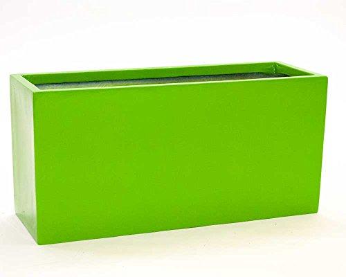 Pflanztrog Blumentrog Raumteiler Fiberglas rechteckig LxBxH 84x30x40cm hochglanz avocado grün