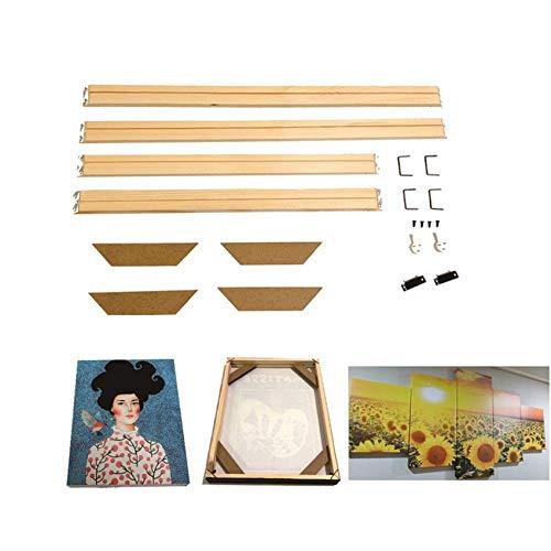 GAOHOU DIY 40 x 50 cm Leinwand Keilrahmen Holzstreifen Kits für Ölgemälde Kunst