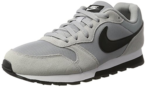 Nike MD Runner 2, Zapatillas Hombre, Gris (Wolf Grey/Black/White), 43 EU
