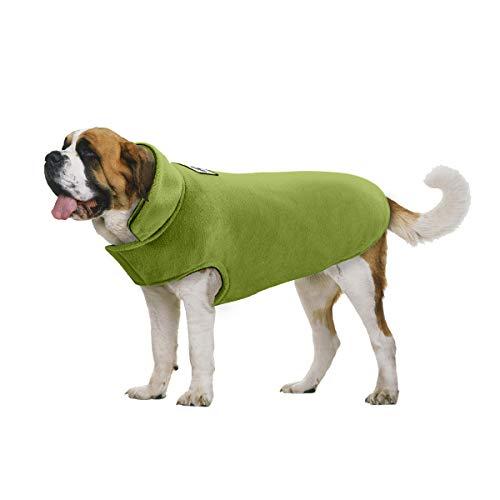 TFENG Hundejacke für Hunde, Wasserdicht Hundemantel gepolstert Puffer Weste Welpen (Grün, Größe 2XL)