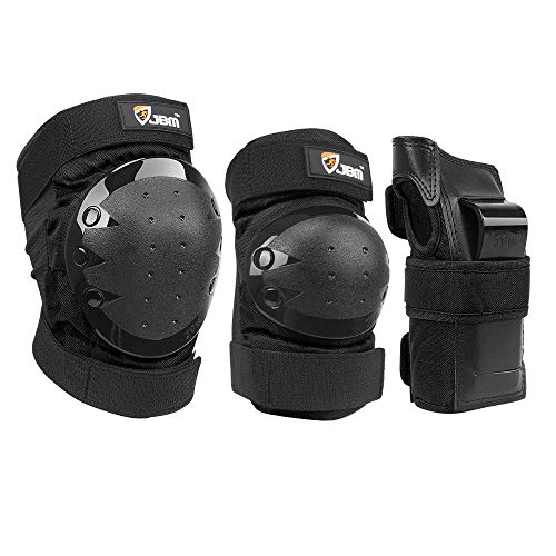JBM international Adult Knee Pads Elbow Pads Wrist Guards 3 In 1 Protective...