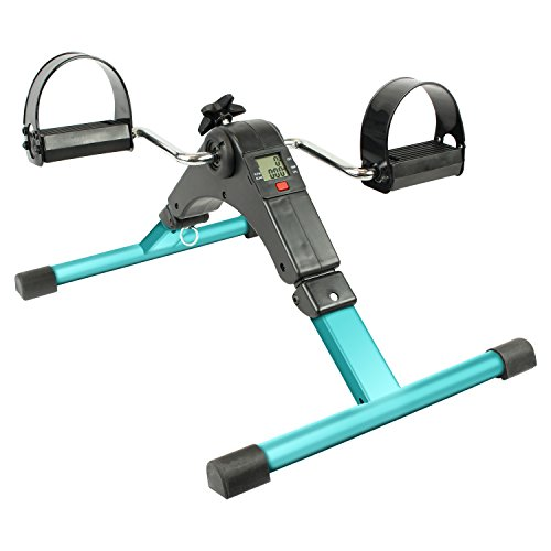 Vive Pedal Exerciser - Portable Desk Cycle - Hand, Arm & Leg Exercise Peddling Machine - Low Impact, Adjustable Fitness Rehab Equipment for Seniors, Elderly, PT - Folding Mini Stationary Bike Peddler