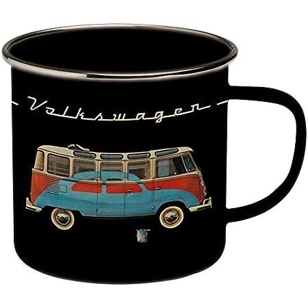 Brisa VW Collection - Volkswagen Furgoneta Hippie Bus T1 Van Taza de Café metálica Esmaltada en Caja de Regalo, Copa de Té, Decoración de la ...