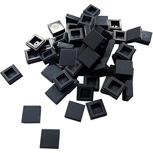 LEGO Bricks City–Fliesen (1x 1Pivot, 60Stück, Dunkelgrau