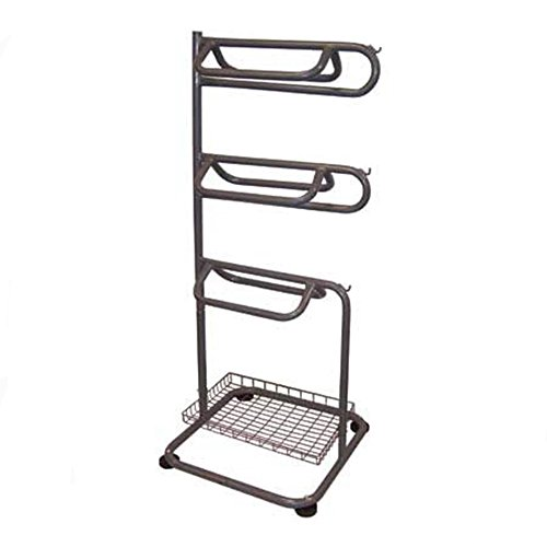 BACKYARD EXPRESSIONS PATIO · HOME · GARDEN 909094 3-Tier Saddle Rack with Accessory Basket, One Size