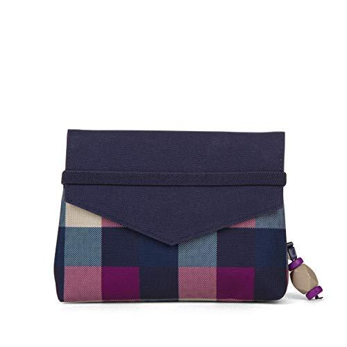 Satch Beauty Wallet – Kosmetiktasche, Zwei Fächer, mit Spiegel - Berry Carry, Lila