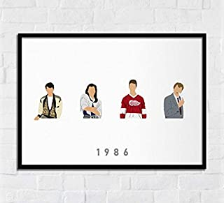 Lee Tee Ferris Buellers Day Off 1986 Movie Poster Gift for Men Woman Poster Home Art Wall Posters [No Framed]