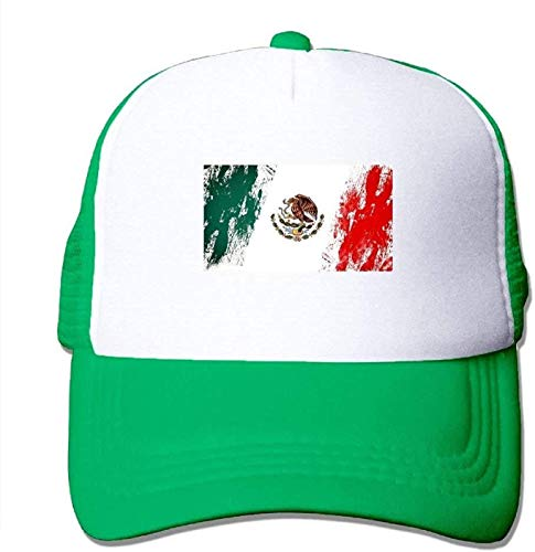 kaifaquqiaoqibaihuodian Vintage Mexico Flag Mesh Baseball Cap Men Women Unisex Adult Adjustable Golf Trucker Hat Fashion11567
