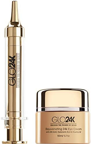 GLO24K Dual Eye Care Set with our 24k Instant Facelift Cream Eye Cream product image