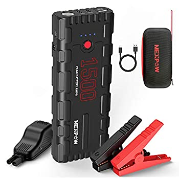 NEXPOW Car Battery Starter 1500A Peak 21800mAh 12V Portable Car Jump Starter Auto Battery Booster Lithium Jump Box with LED Light/Quick Charge 3.0