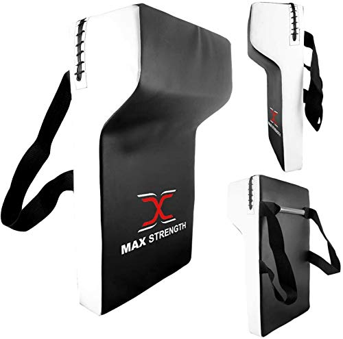 MAXSTRENGTH Max Strength Rugby Strike Kick Shield Pad Pro Arti Marziali Strike Formazione Hit Shield Heavy Duty Professional Grade Tackle Wedge Pad ad alta densità (singolo)