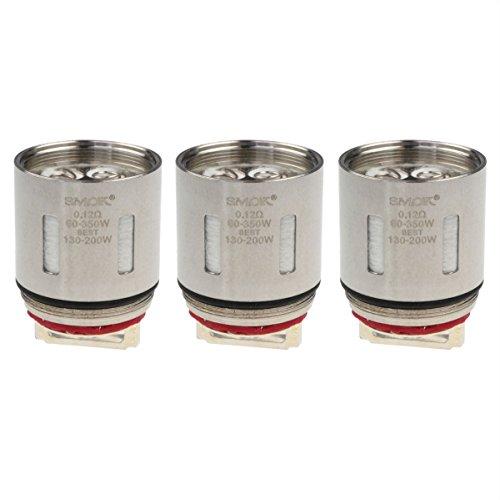 SMOK V12-T12 Coils, 0,12 Ohm, Riccardo Verdampferköpfe für e-Zigarette, 3 Stück