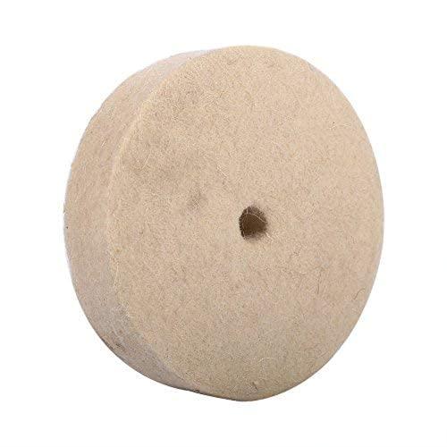4 disques Disque en Feutre Roue de Polissage Disque de Touret a Polir Polissage Ronds en Feutre Doux - Beige - 100 x 25 mm