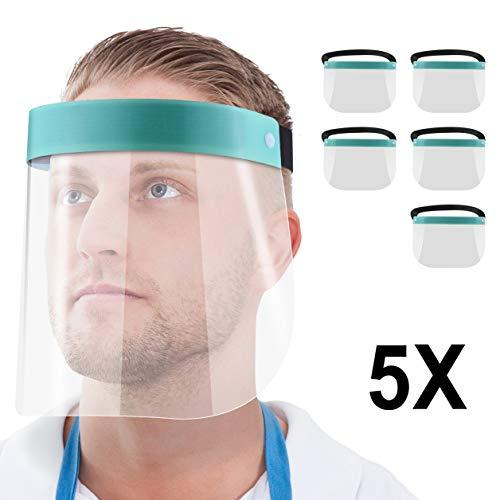 Blumax Gesichtsschutz-Schirm Augenschutz Spuck-Schutz Face-Shield Schutzschild Gesichtsschirm türkis (5)