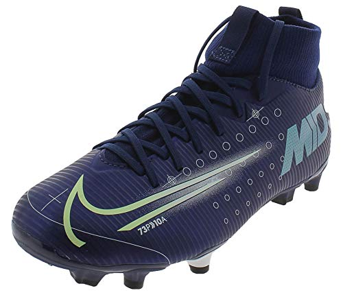 Nike Unisex-Kinder Jr Superfly 7 Academy MDS Fgmg Fußballschuhe, Mehrfarbig (Blue Void/Barely Volt/White/Black 401), 37.5 EU