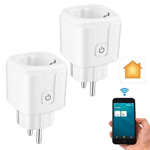 CAMPSLE Smart WiFi Plug 16A Smart Plug, Función de temporizador, Smart Plug, Smart Home Devices Enchufe WiFi, Control remoto por voz Enchufes inalámbricos
