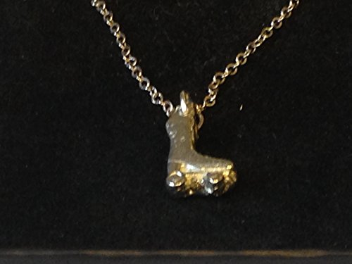 GIFTSFORALL Derbyshire UK TG317 Halskette mit Rollschuh-Anhänger aus feinem englischen Zinn 45,7 cm versilbert