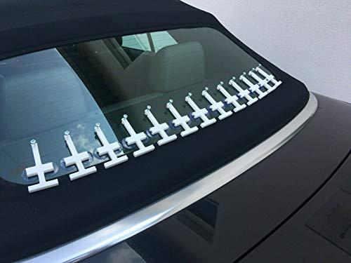 Cabrio Heckscheibe kleben Verdeck Reparatur Set für eingeklebte Heckscheiben aus Glas
