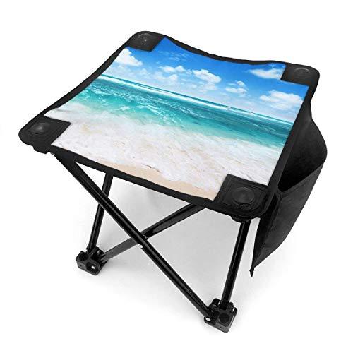 End Nazi Tabouret de Camping chaises Pliantes Bleu Ciel Vert Warter Clean Beach siège de Chaise Portable