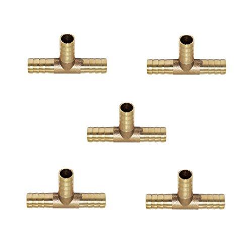 Sharplace 5 Pcs Connecteur De Tuyau d'eau Barbed Motif T Type Double Fitting Tubing Jardin Agricole - 10mm