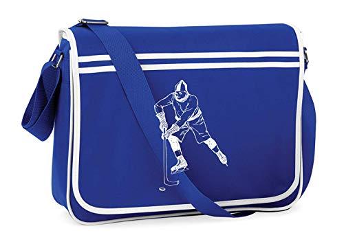Druckerlebnis24 Schultertasche - Junge Lässig Hokey Eishockey - Umhängetasche, geeignet für Schule Uni Laptop Arbeit
