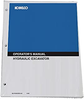 KOBELCO 80CS-2 Acera Excavator Operator's Owners Operation & Maintenance Manual - Part Number S2LF00015ZE01