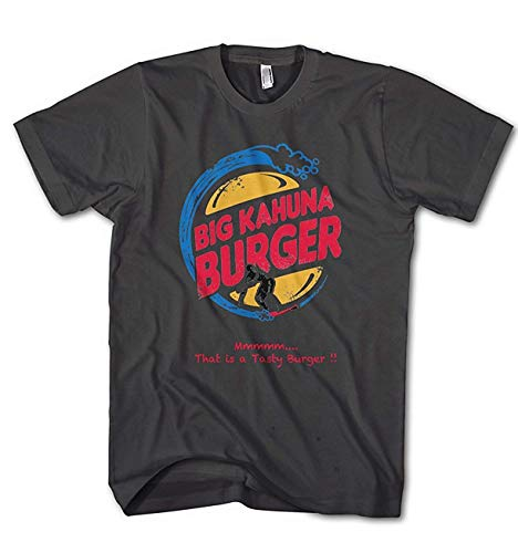 Monkey Print T-Shirt Uomo Big Kahuna Burger Fiction Movie Pulp - Antracite, L