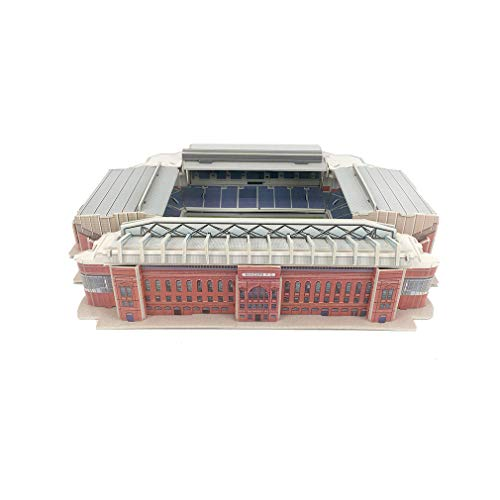 Pessica 3D Jigsaw Puzzle,Glasgow Rangers Football Club Home Stadium Eblocks Stadium Jigsaw Fans Souvenir DIY Puzzle 12' X 10' X 3'