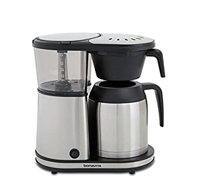 Bonavita Connoisseur 8-Cup One-Touch Coffee Maker Featuring Hanging Filter Basket and Thermal Carafe, BV1901TS