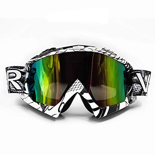 ATV Goggles Dirt Bike Off Road Motocross Motorcycle Motorbike Safety Glasses Anti UV Anti-Scratch Dustproof Windproof Cycling Racing Riding Skiing for Men Women Kids Adults QL036-Tinted KG3