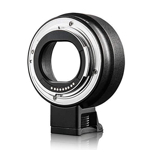 Mothinessto Anillo Adaptador de Lente Negro Ligero Enfoque automático EF-EOS M AF Resistente al Desgaste, para Lente Canon EF EF-S a para cámara Canon EOS M