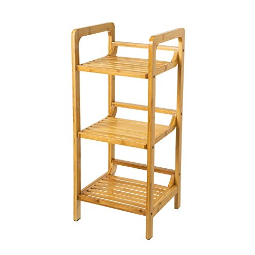Estantería 3 estantes bambú nórdica Natural, 30x70x30