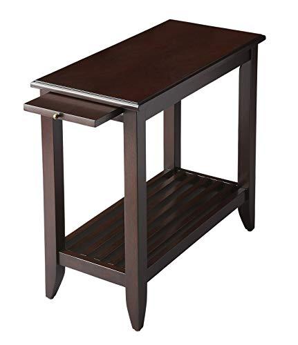 엔드 테이블 - 풀 아웃 트레이가 있는 브래든햄 테이블 - 멀롯 마감 - 엔드 테이블 - 사이드 테이블