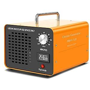 DONGQIMI Generatore di Ozono 10.000mg/h, purificatore d'Aria, Ozonizzatore/Deodorante ionizzatore Home per Stanza, Fumo, Auto e Animali Domestici