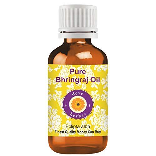 Huile de Bhringraj pure de Deve Herbes (Eclipta alba), 100% naturelle, de qualité thérapeutique (15 ml)