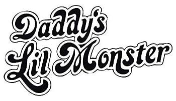 Harley Quinn - Daddy s Lil Monster - Black Printed 5 Inch Sticker Decal Die Cut Sticker Graphic - Car Sticker Laptop Sticker