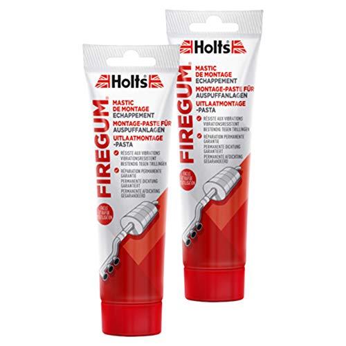Holts 2X Auspuffanlage Montagepaste Firegum Tube Autopflege Rohrverbindung Gasdicht Hitzebeständig 150 G 204204