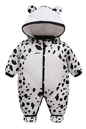 Y-BOA Costume Combinaison Barboteuse Capuche Dors Bien Bébé Fille Garçon Pyjama Coton Vache 3-6mois