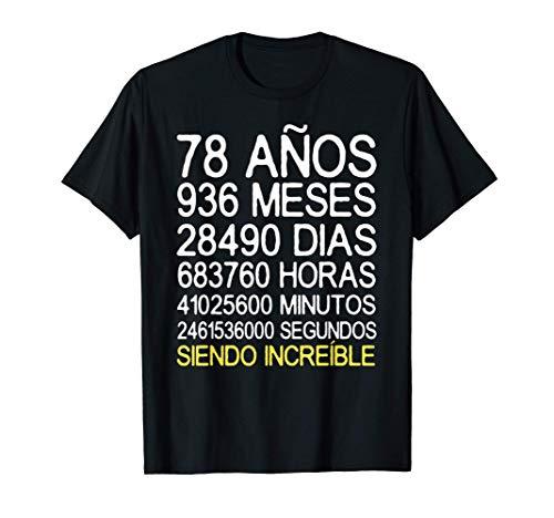78 Años Cumpleaños Hombre Mujer Regalo Divertido 78 Años Camiseta