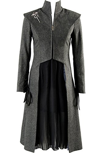 Cosplaysky Game of Thrones Season 7 Costume Daenerys Targaryen Halloween Outfit Large Grey