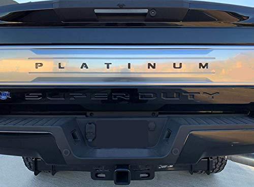 BDTrims Tailgate Raised Letters Compatible with 2017-2020 Platinum F-250/350/450/550 Models (Black)