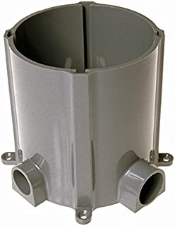 Hubbell-Raco 5511 Floor Box Non-Metallic For Concrete Pour with 3/4 and 1-Inch. Hubs