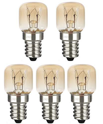 AcornSolution 15W T22 E14 230-240V SES backofenlampeDimmbare klare GLS-Glühbirne für Kühl- und Gefrierschränke (5er-Pack)