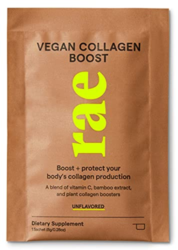 Rae Vegan Collagen Boost 9.5 Oz! Unflavored Collagen Powder Drink! Blend of Vitamin C, Bamboo Extract and Plant Collagen Boosters! Helps Your Skin Look Fresh, Firm and Youthful!