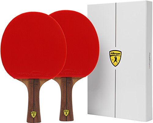 Killerspin Jet800 Speed N1 Ping Pong Paddle and Storage Case Double Pack Black/Red