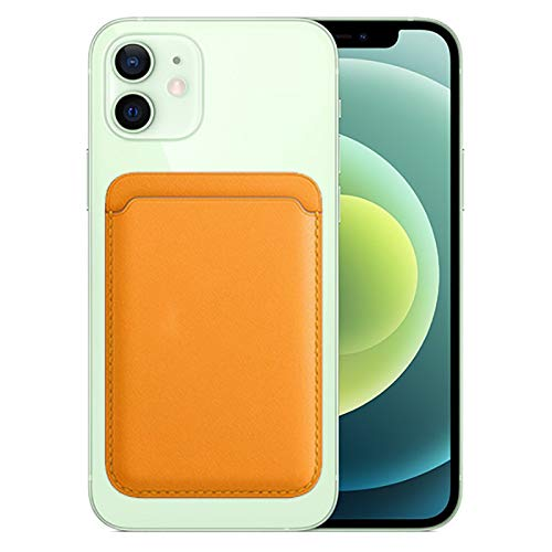 MELMA Funda de piel tipo cartera con MagSafe compatible con iPhone 12/Mini/Pro/Max con soporte magnético para tarjetas (rojo)